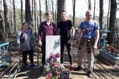 Сачковичский ДК. Экскурсия к братской могиле.