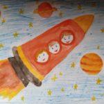 Выставка детских рисунков «Космическое путешествие»